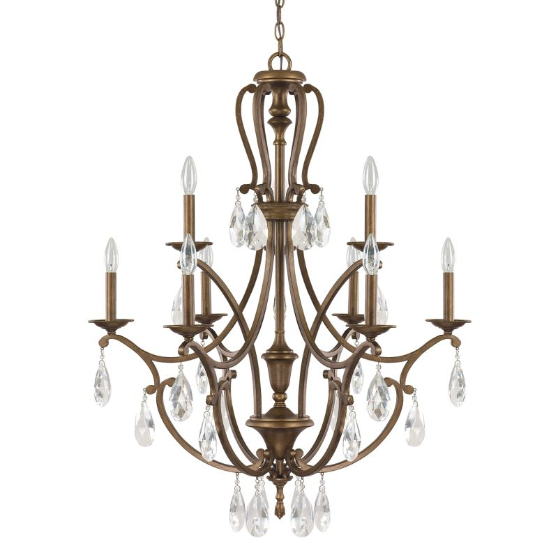 Capital Lighting 4299-000 The Claybourne Collection 9 Light 2 Tier