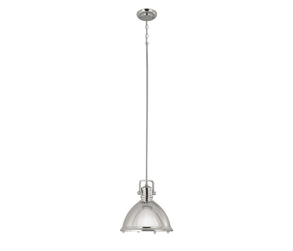 Capital Lighting 4432 1 Light Full Sized Pendant Polished Nickel