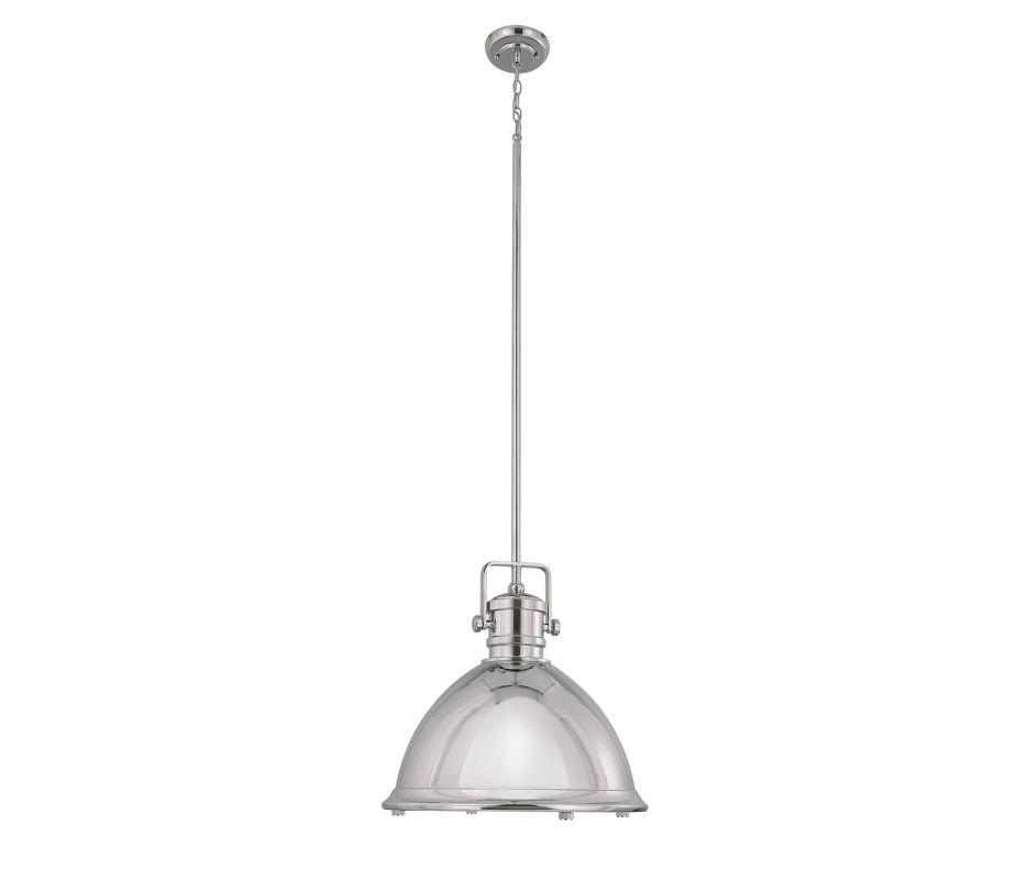 Capital Lighting 4433 1 Light Full Sized Pendant Polished Nickel