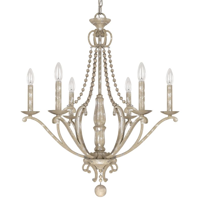 Capital Lighting 4446-000 The Adele Collection 6 Light 1 Tier Candle