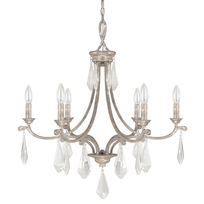 Capital Lighting 4496-000 The Harlow Collection 6 Light 1 Tier Candle