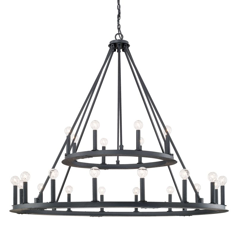 Capital Lighting 4910 Pearson 24 Light 2 Tier Chandelier Black Iron