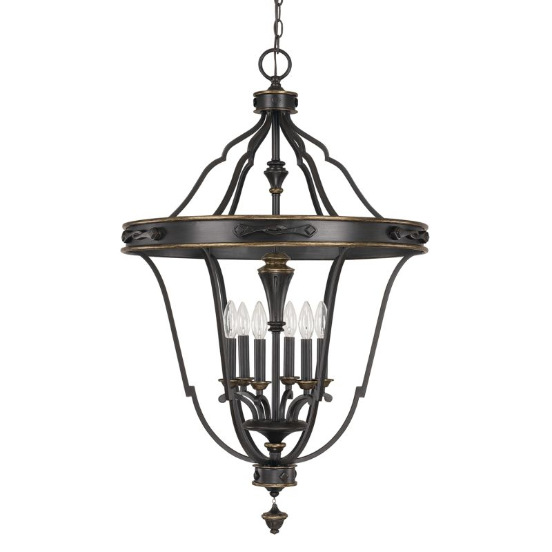 Capital Lighting 9002 The Wyatt Collection 6 Light Large Pendant Sale $598.00 ITEM: bci2434659 ID#:9002SY UPC: 841224096130 :