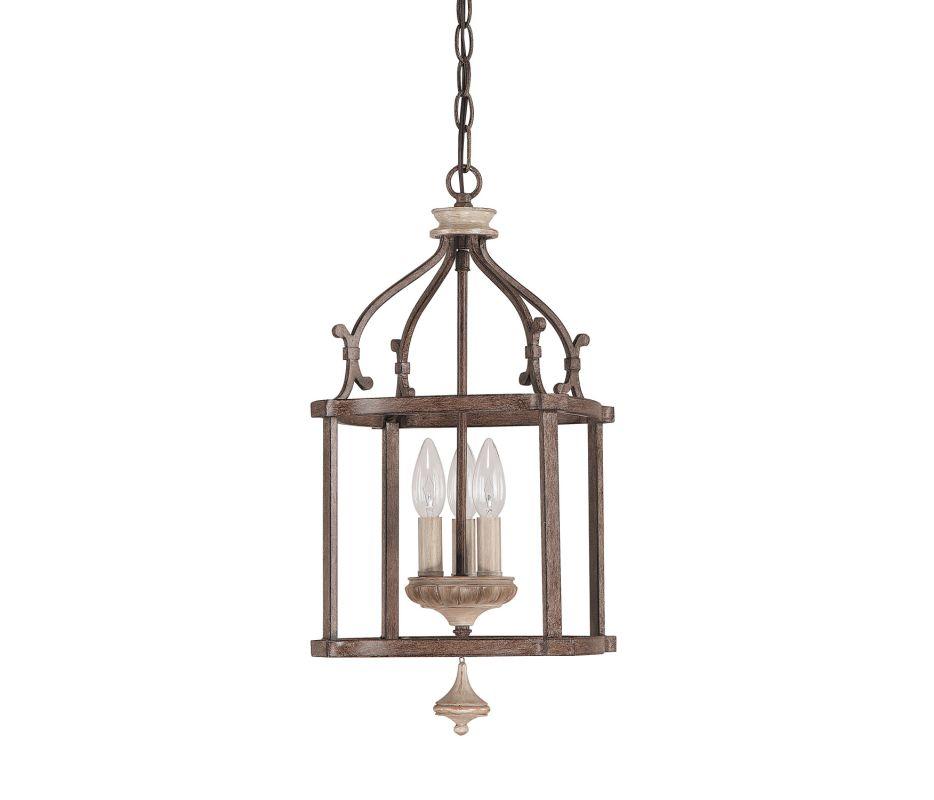capital lighting 9471fo french oak chateau 3 light mini lantern pendant. Black Bedroom Furniture Sets. Home Design Ideas