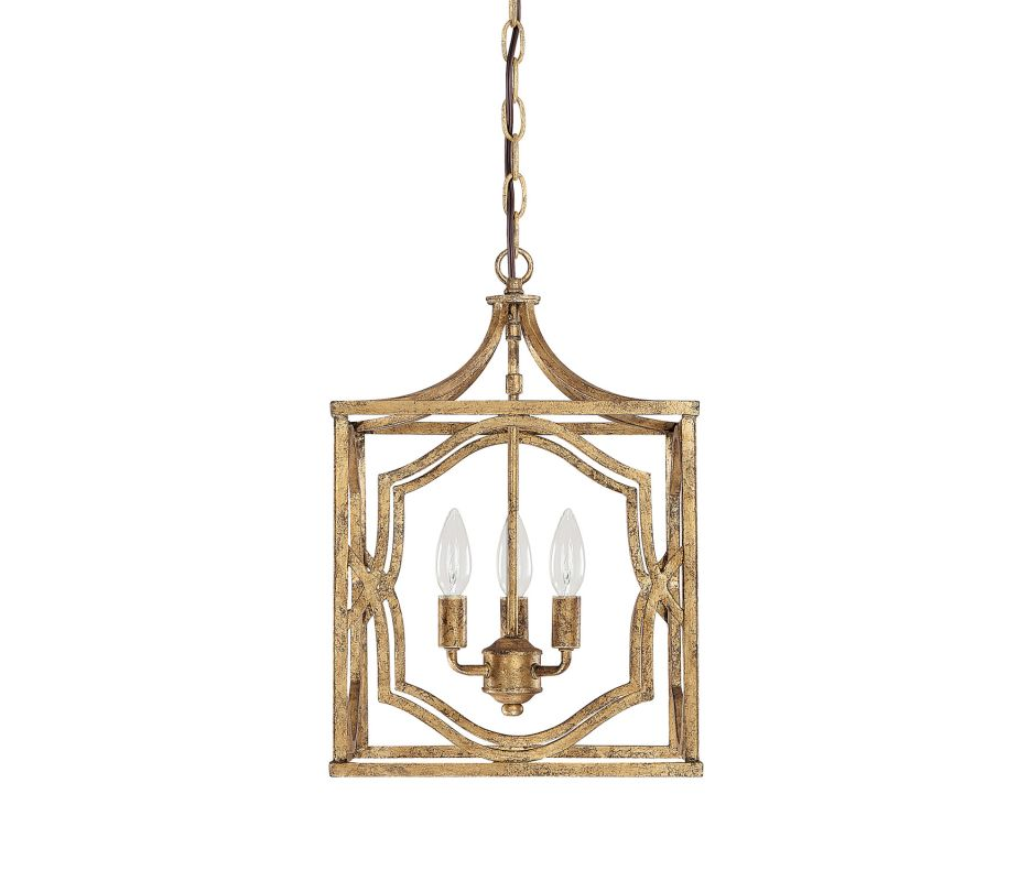 "Capital Lighting 9481 Blakely 3 Light 13"" Wide Pendant Antique Gold"