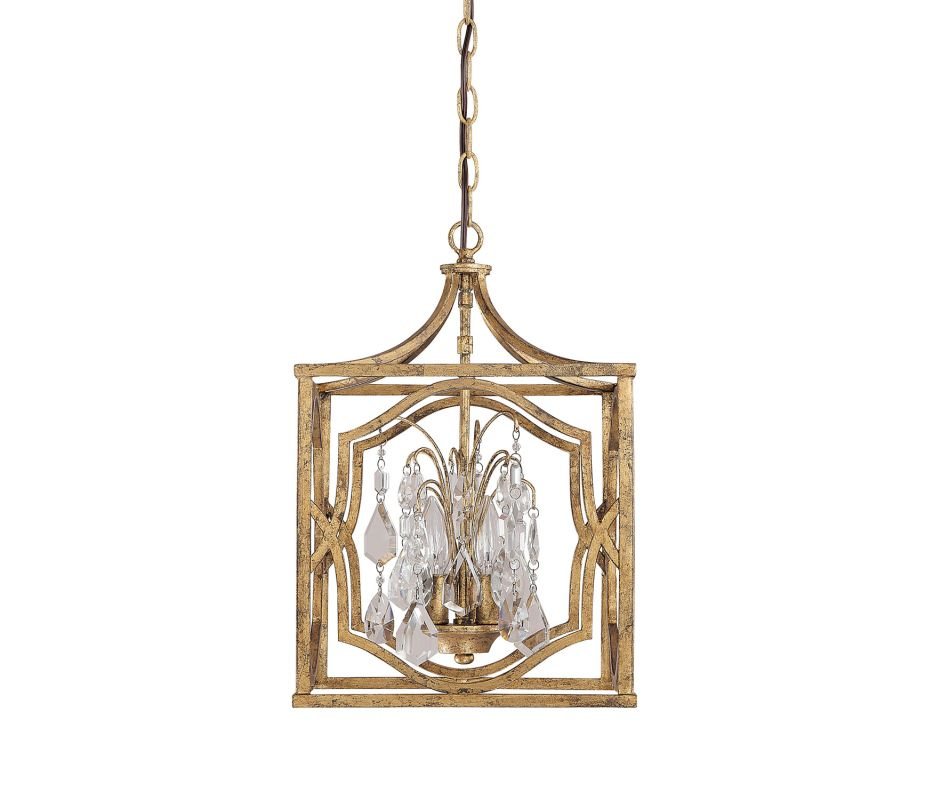 "Capital Lighting 9481-CR Blakely 3 Light 13"" Wide Pendant Antique Gold"
