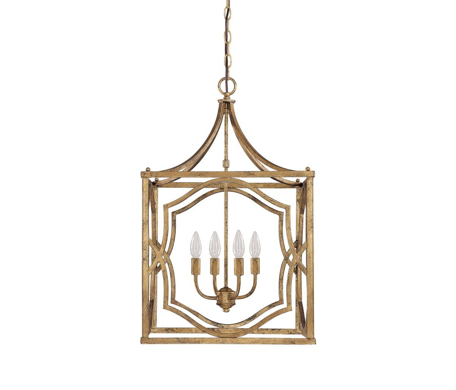 "Capital Lighting 9482 Blakely 4 Light 18"" Wide Pendant Antique Gold"