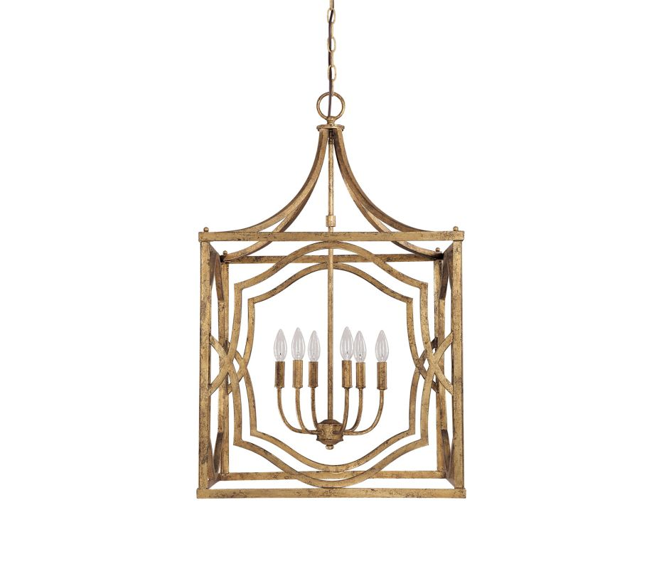 "Capital Lighting 9483 Blakely 6 Light 23"" Wide Chandelier Antique Gold"