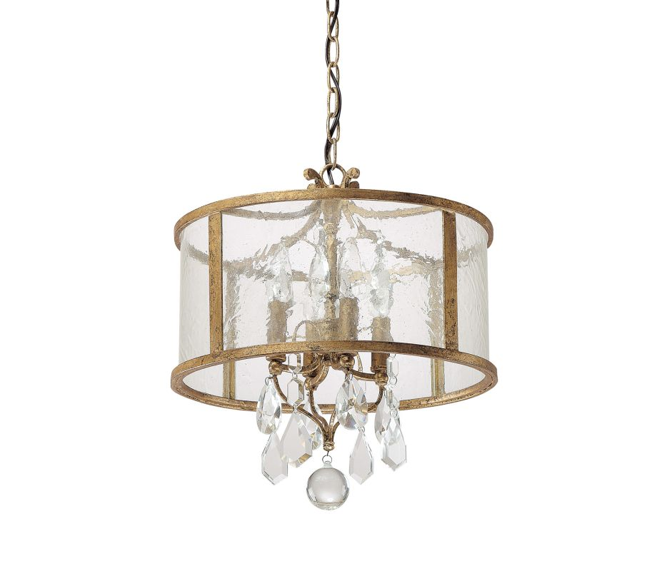"Capital Lighting 9484-CR Blakely 4 Light 15"" Wide Pendant Antique Gold"