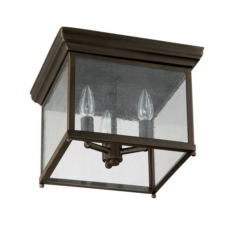 Capital Lighting 9546ob Old Bronze 3 Light Outdoor Flush