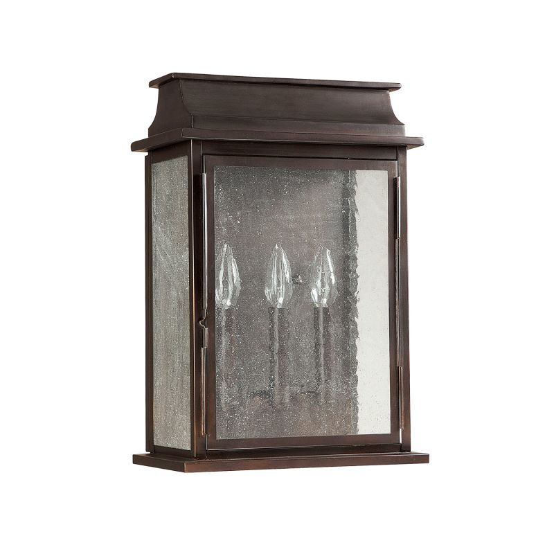 Capital Lighting 9663 Bolton 3 Light Outdoor Wall Sconce Old Bronze