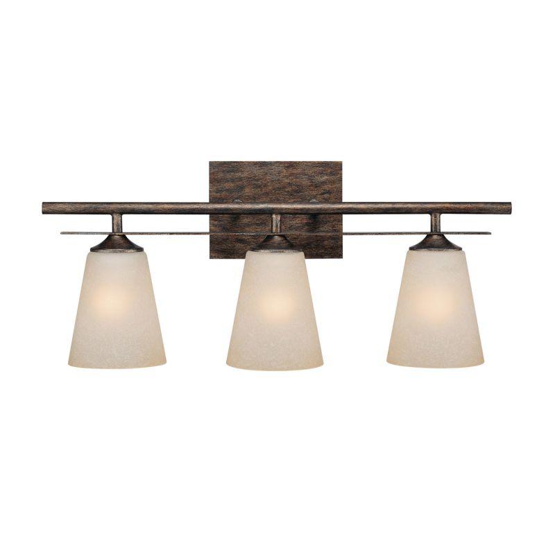 Capital Lighting 1738-131 Soho 3 Light Bathroom Vanity Fixture Rustic