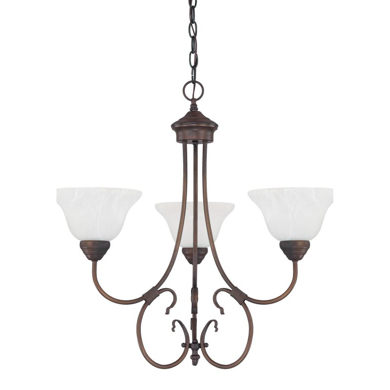 Capital Lighting 3223-220 Hometown 3 Light 1 Tier Chandelier Burnished