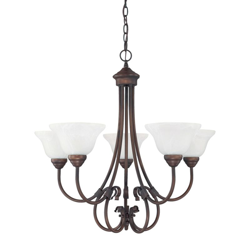 Capital Lighting 3226 Hometown 5 Light 1 Tier Chandelier Burnished
