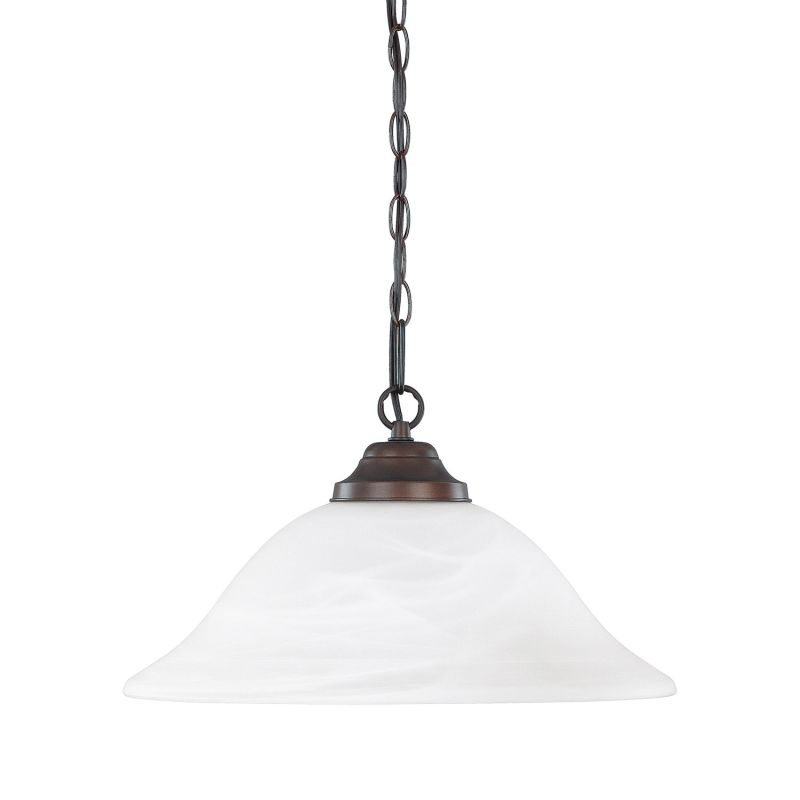 Capital Lighting 3907 1 Light Full Sized Bowl Shaped Pendant Burnished