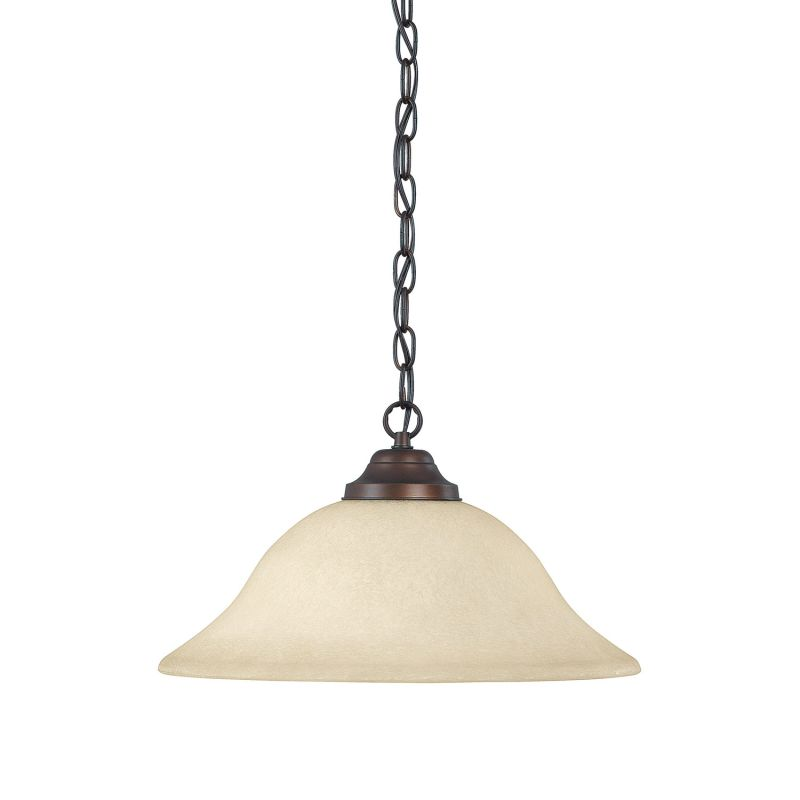 Capital Lighting 3907-MS 1 Light Full Sized Bowl Shaped Pendant