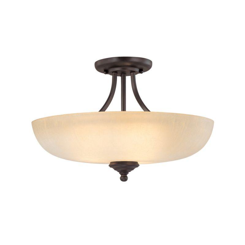 Capital Lighting 3947-TW Chapman 3 Light Semi-Flush Ceiling Fixture Sale $124.00 ITEM: bci1840286 ID#:3947BB-TW UPC: 841224078730 :