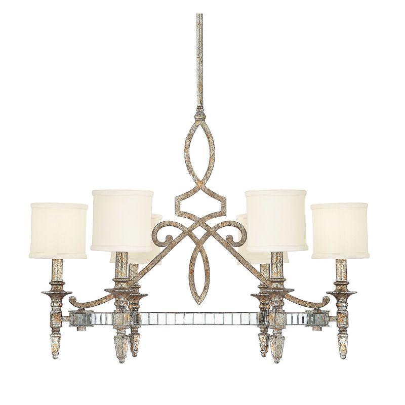 Capital Lighting 4086-535 Palazzo 6 Light 1 Tier Chandelier Silver /