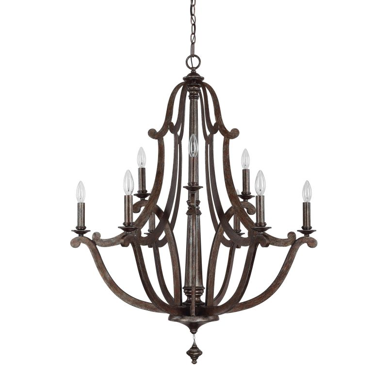 Capital Lighting 4369 Corday 9 Light 2 Tier Candle Style Chandelier