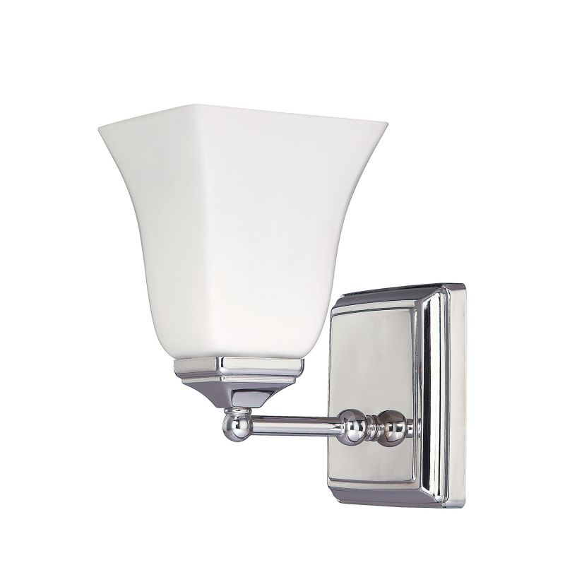 Capital Lighting 8451-119 1 Light Wall Sconce Polished Nickel Indoor