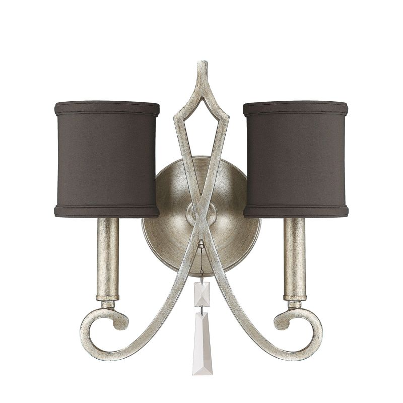 Wall Candle Sconces Silver : Capital Lighting 8462BS-533-CR Brushed Silver Elan 2 Light Candle-Style Wall Sconce ...