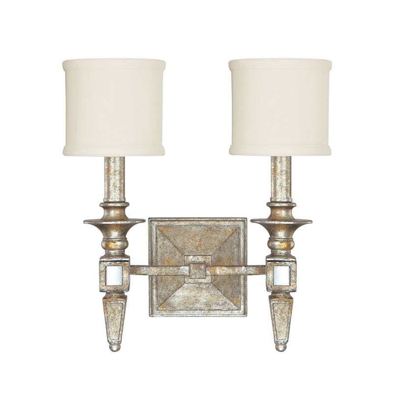 Capital Lighting 8482SG 535 Silver Gold Palazzo 2 Light Bathroom Vanity Fix
