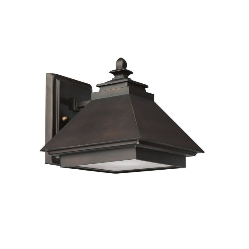 Capital Lighting 9091 Outdoor 1 Light Outdoor Wall Sconce Burnished