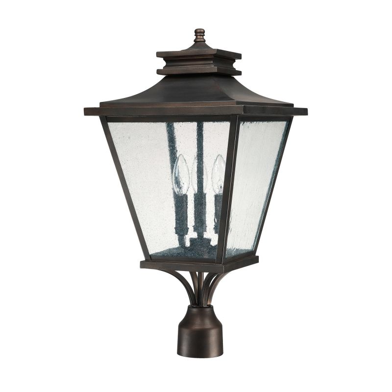 Capital Lighting 9466 Gentry 3 Light Outdoor Lantern Post Light Old