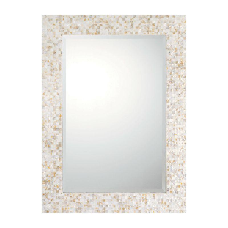 """Capital Lighting M362460 44"""" Rectangular Mirror Tiled Umber Home Decor"""