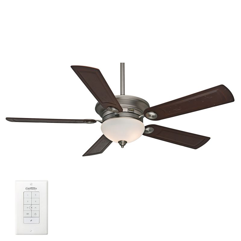 ceiling fan blades light kit and wall control included. Black Bedroom Furniture Sets. Home Design Ideas