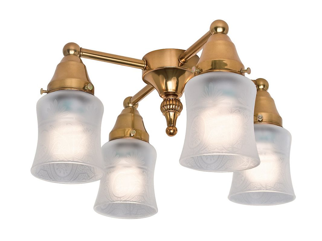 Casablanca KG99 Fan Light Kit Burnished Brass Ceiling Fan Accessories