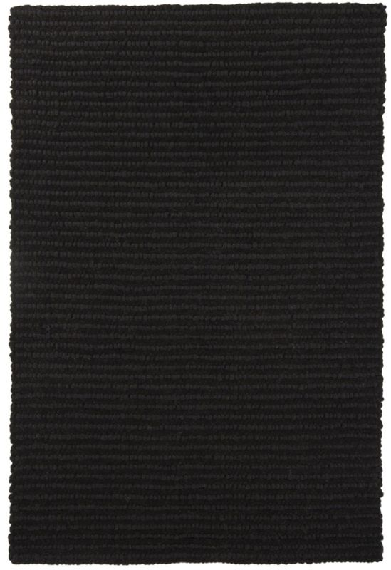Chandra Rugs Anni 11405 Black New Zealand Wool Shag Area Rug Hand Sale $1118.00 ITEM: bci2781766 ID#:ANN11405-576 :