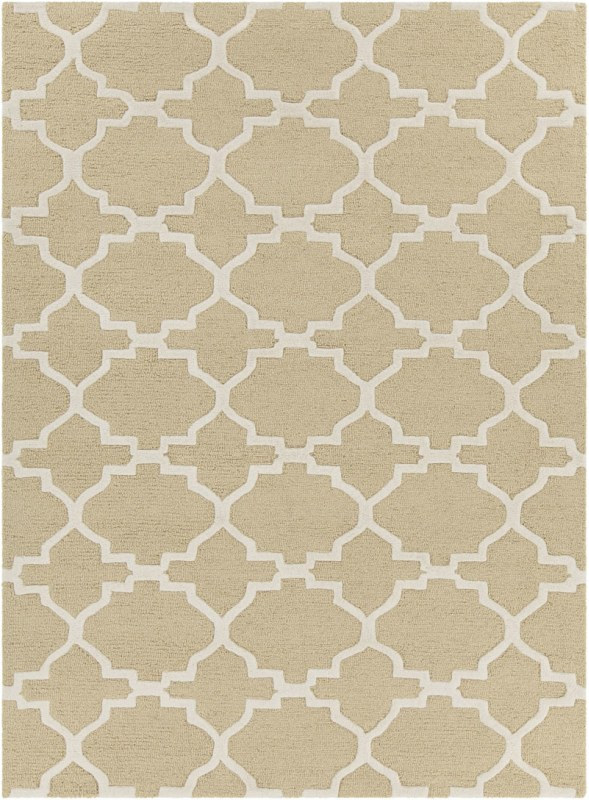 Chandra Rugs Davin 25852 Yellow and Cream Imported Wool Shag Area Rug Sale $1104.00 ITEM: bci2781995 ID#:DAV25852-710 :