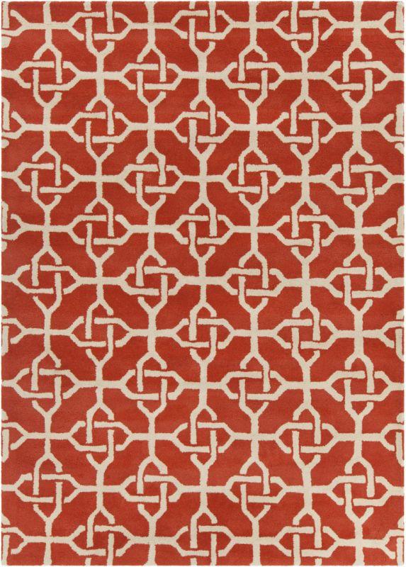 Chandra Rugs Davin 25855 Orange and Cream Imported Wool Shag Area Rug Sale $1104.00 ITEM: bci2782001 ID#:DAV25855-710 :