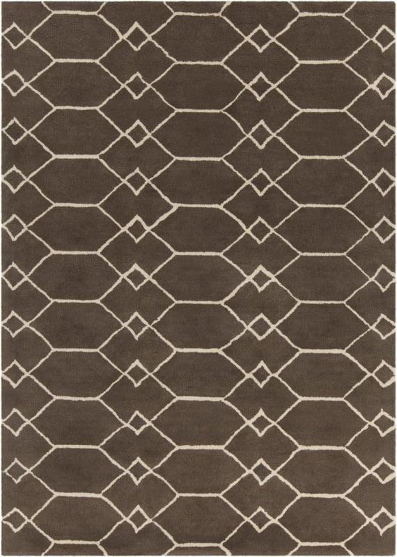 Chandra Rugs Davin 25857 Brown and Cream Imported Wool Shag Area Rug Sale $1104.00 ITEM: bci2782005 ID#:DAV25857-710 :