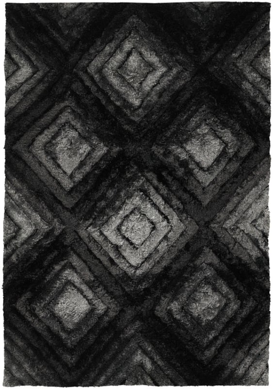 Chandra Rugs Flemish 51101 Grey Black and Charcoal Polyester Shag Sale $1926.00 ITEM: bci2782113 ID#:FLE51101-79106 UPC: 849317058829 :