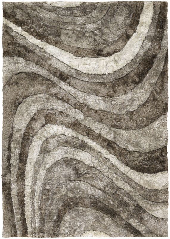 Chandra Rugs Flemish 51102 Ivory Taupe and Beige Polyester Shag Area Sale $1926.00 ITEM: bci2782115 ID#:FLE51102-79106 UPC: 849317058843 :
