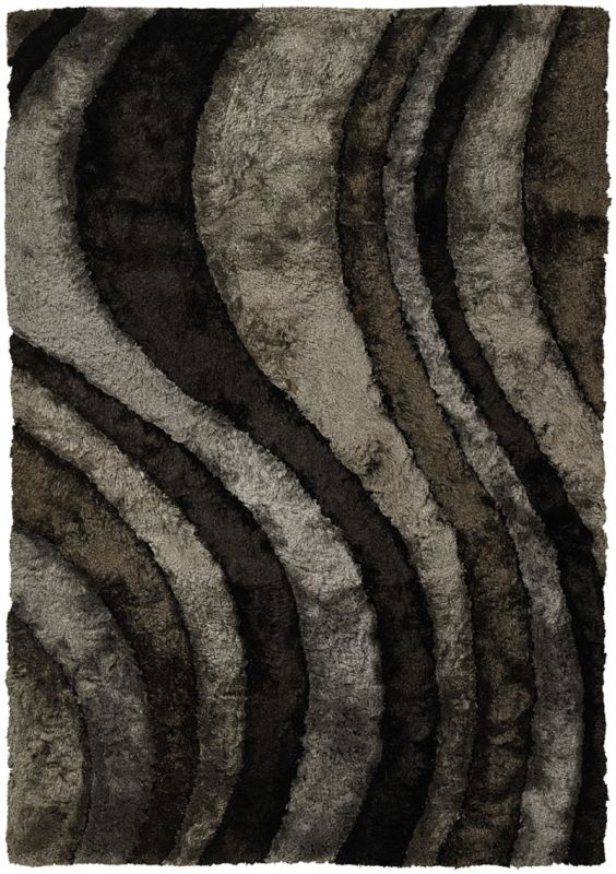 Chandra Rugs Flemish 51110 Grey Charcoal and Brown Polyester Shag Sale $1926.00 ITEM: bci2782125 ID#:FLE51110-79106 UPC: 849317044358 :