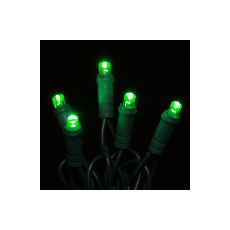 Christmas at Winterland BAT-70MMGR-4G Battery Operated Light String