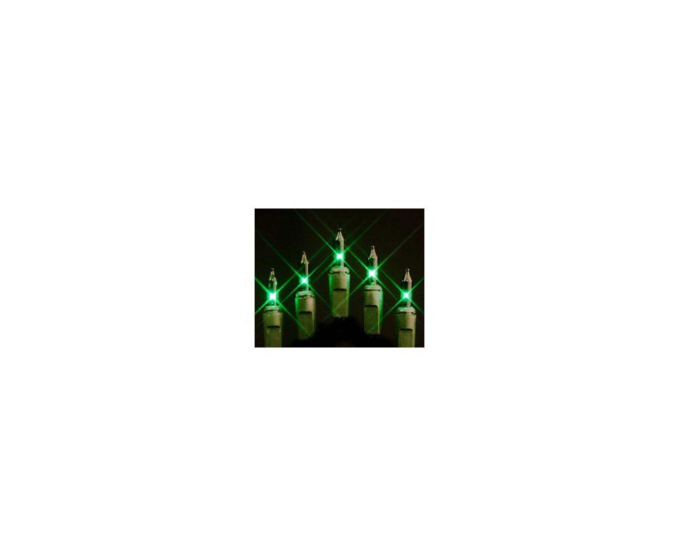 Christmas at Winterland MINI-100-4-G 33 Foot String of Green Mini