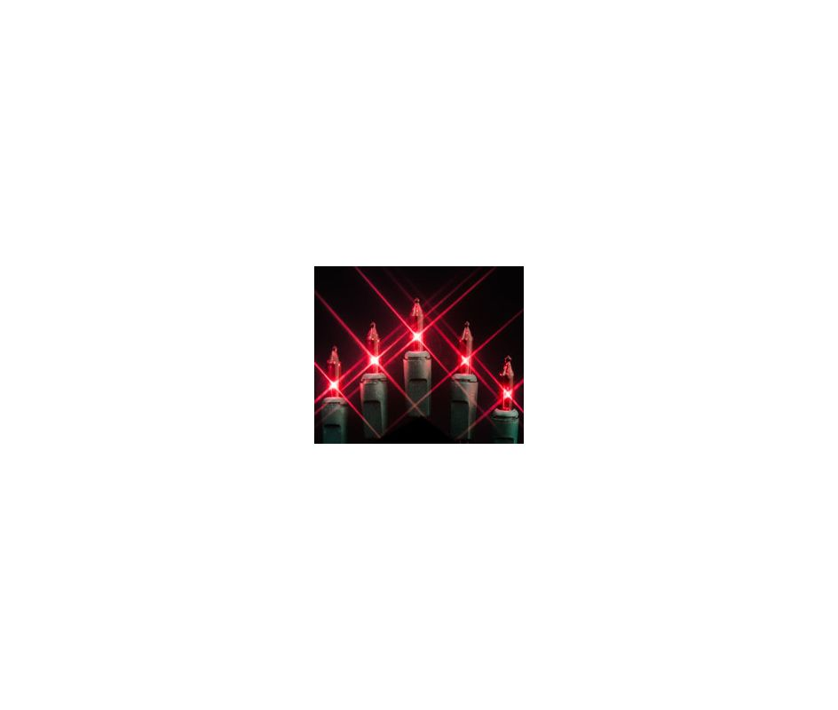 Christmas at Winterland MINI-100-4-R 33 Foot String of Red Mini