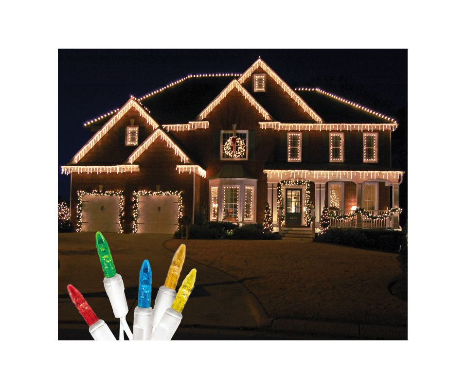 Christmas at Winterland S-ICM55M-IW Standard Icicle Lights M5 LED