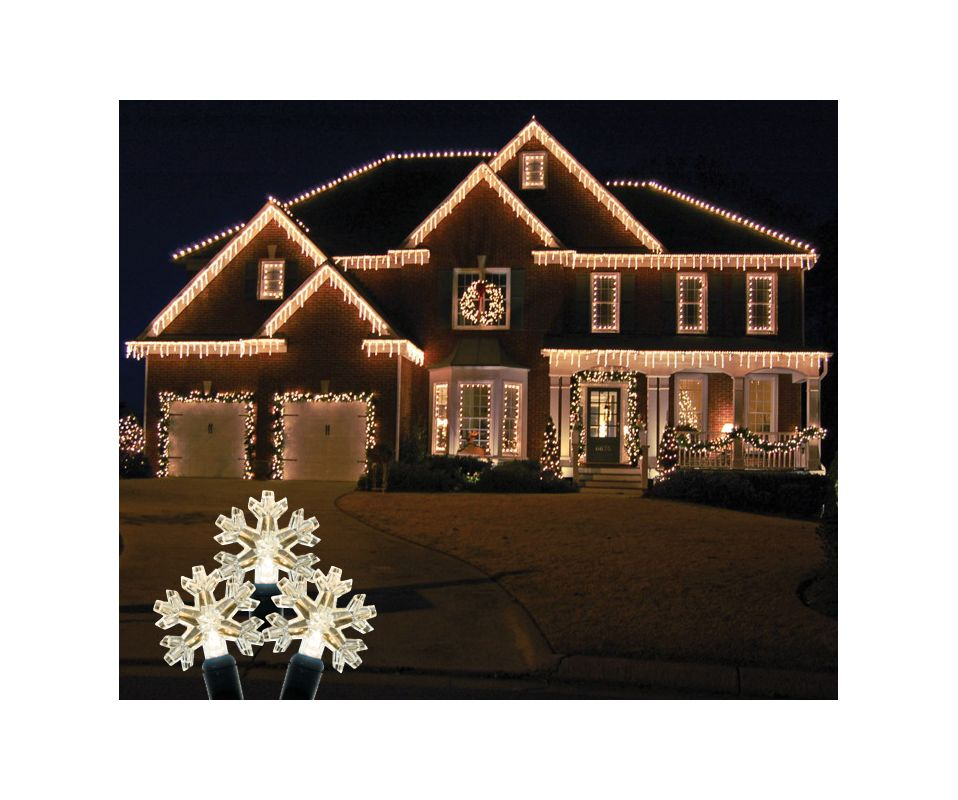 Christmas at Winterland S-ICSNWW-IW Standard Icicle Lights M5 LED Warm