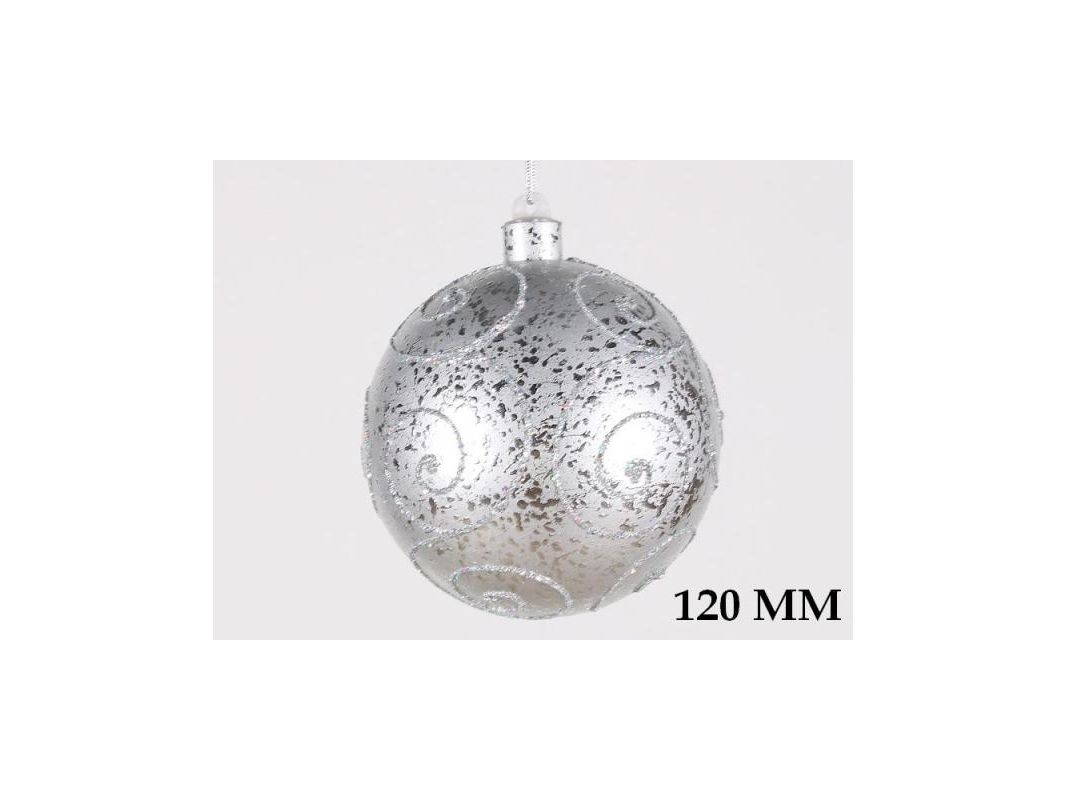 Christmas at Winterland WL-BALL-120-SLV 4.7 Inch Ball Ornament Silver