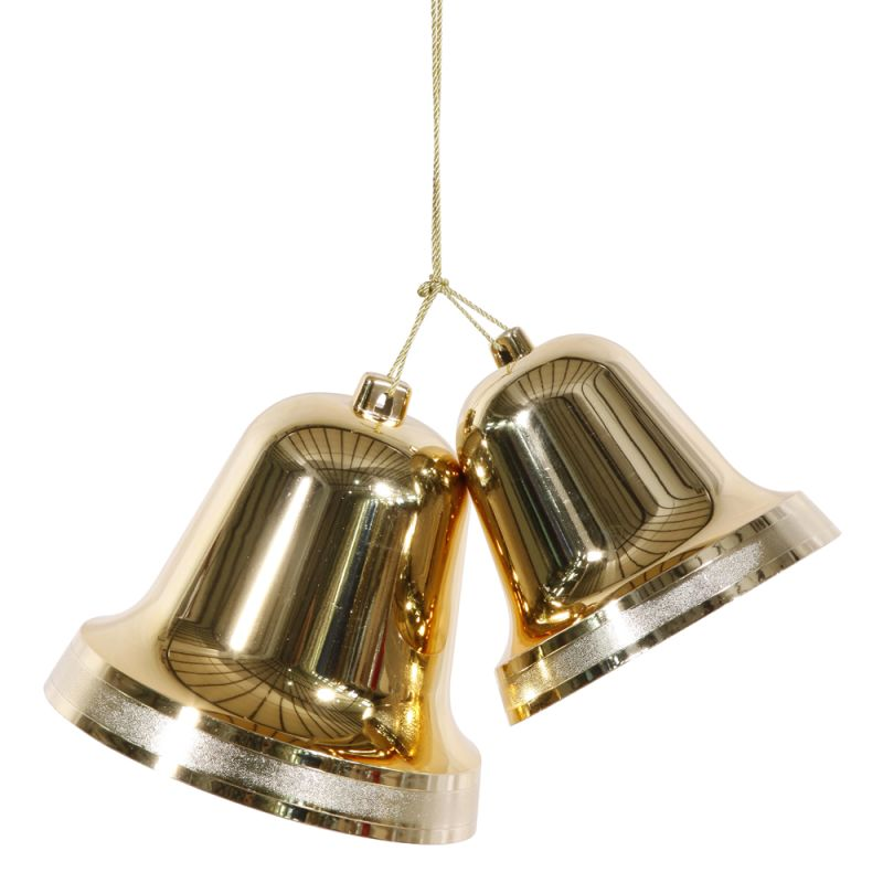 Christmas at Winterland WL-BELL-9.5-GO 95 Inch Liberty Gold Bells