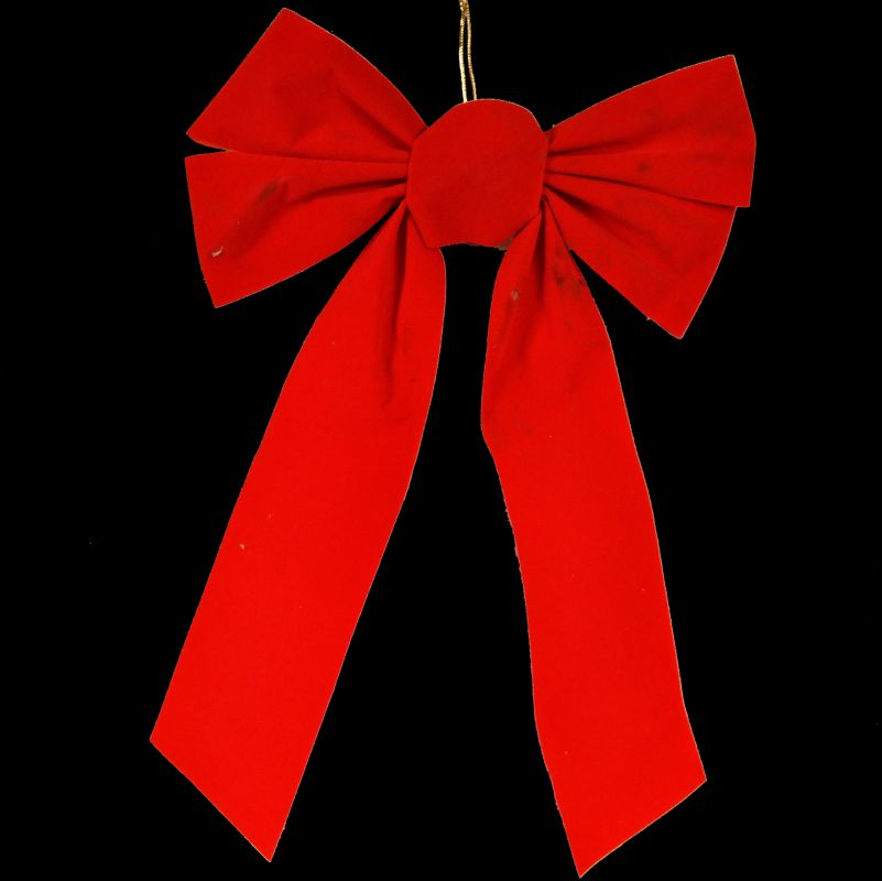 Christmas at Winterland WL-BOW-15-R 15 Inch Red Velvet Holiday Bow Red