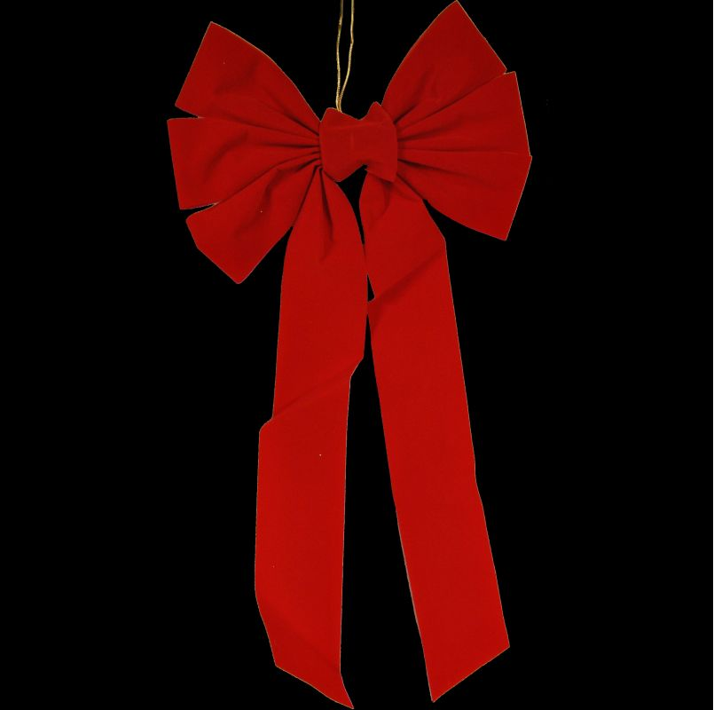 Christmas at Winterland WL-BOW-21-R 21 Inch Red Velvet Holiday Bow Red