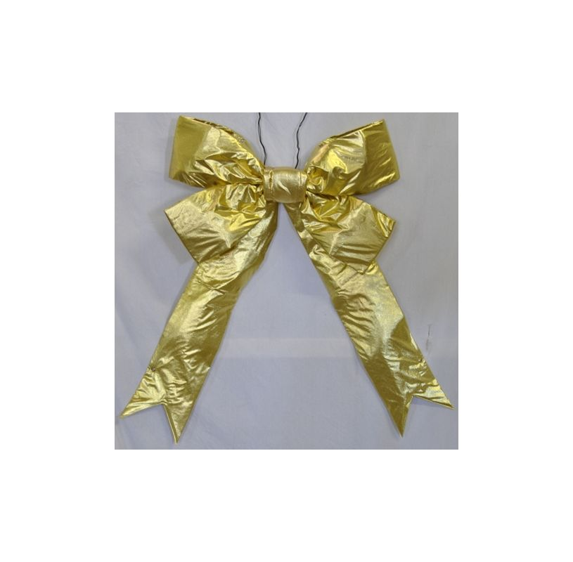 Christmas at Winterland WL-BOW-96-GO 96 Inch Gold Holiday Bow Gold