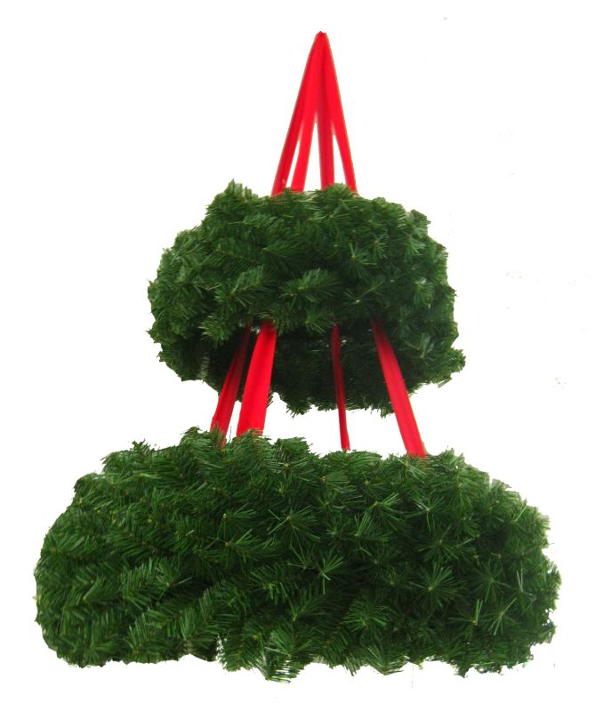 Christmas at Winterland WL-BSWR-52 52 Inch Hanging Basket Wreath Green