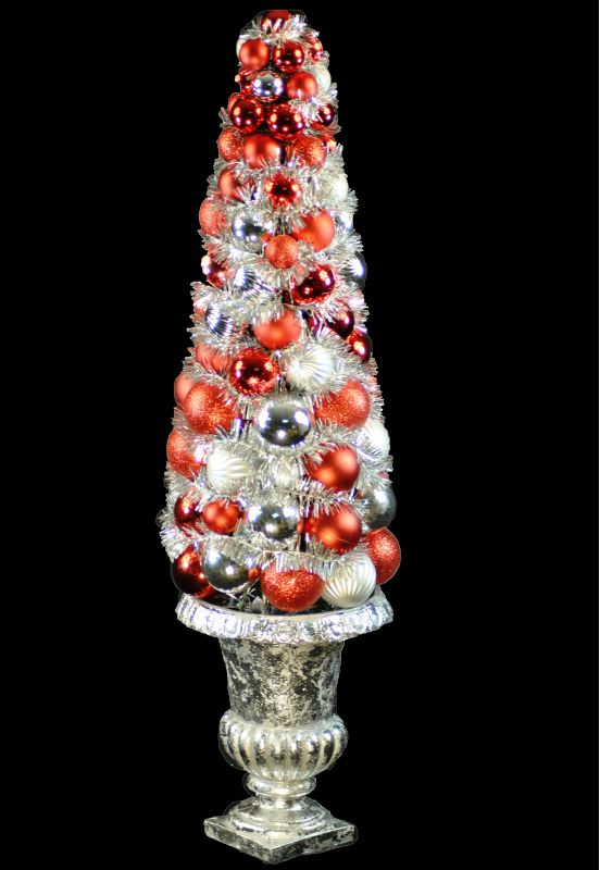 Christmas at Winterland WL-BTR-26-RE/SLV 24 Inch Red and Silver